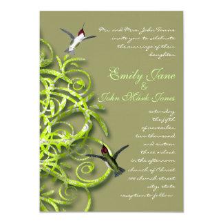 Convite do casamento da limeira de pássaros do