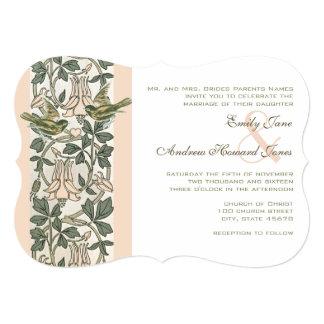 Convite do casamento da madressilva dos pássaros