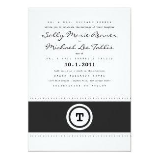 Convite do casamento da máquina de escrever