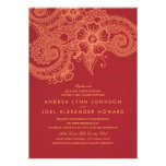 Convite do casamento da modificação Mehandi