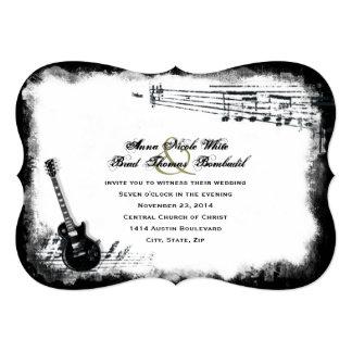 Convite do casamento da música áspera de guitarra