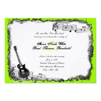 Convite do casamento da música do limão da