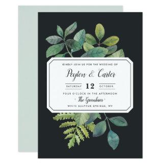 Convite do casamento da noite de Botanica
