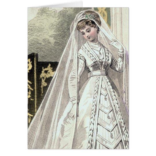 Convite do casamento da noiva do Victorian Cartão Comemorativo