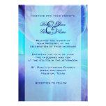 Convite do casamento da orquídea azul