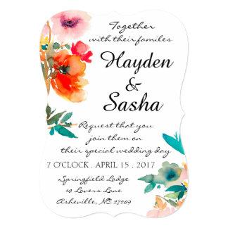 Convite do casamento da papoila