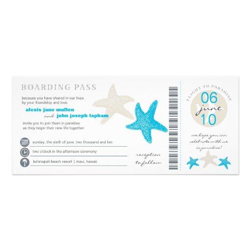 Convite do casamento da passagem de embarque