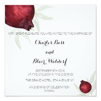 Convite do casamento da romã