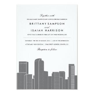 Convite do casamento da skyline de Denver
