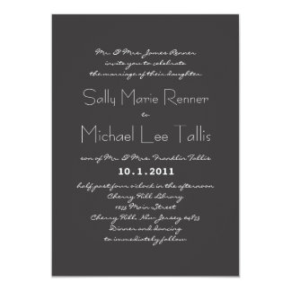Convite do casamento da tipografia