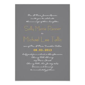 Convite do casamento da tipografia nas cinzas e no