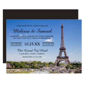 Convite do casamento da torre Eiffel