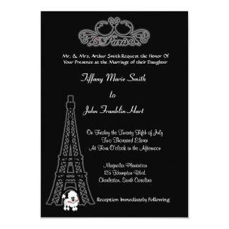 Convite do casamento da torre Eiffel de Paris