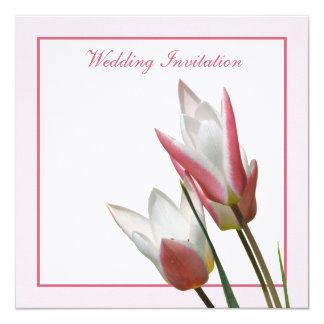 Convite do casamento da tulipa