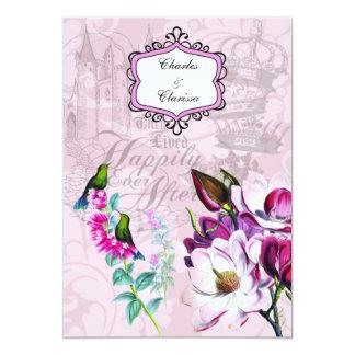 Cartão Convite do casamento das magnólias 5x7 dos