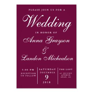 Convite do casamento de Borgonha