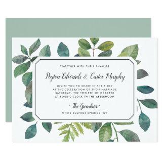 Convite do casamento de Botanica