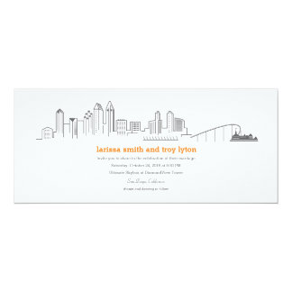 Convite do casamento de Coronado da skyline da