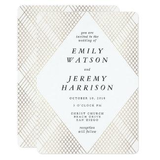 Convite do casamento de Gatsby do art deco