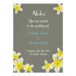 Convite do casamento de Havaí