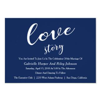 "Convite do casamento de ""Love Story"" do design"