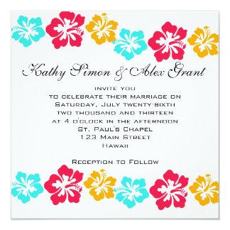 Convite do casamento de Luau