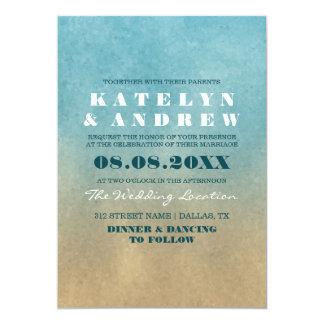 Convite do casamento de Ombre da praia