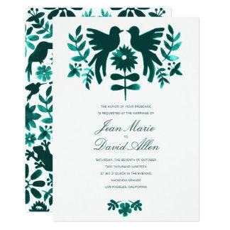 Convite do casamento de Otomi do mexicano -