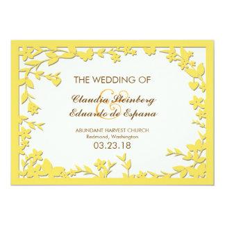 Convite do casamento de Papel Picado - pombas