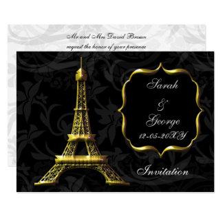 convite do casamento de Paris da torre Eiffel do