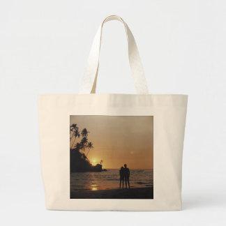 Convite do casamento de praia bolsa tote grande