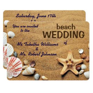 Convite do casamento de praia do design dos