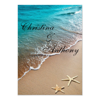 Convite do casamento de praia do destino da