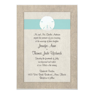 Convite do casamento de praia do dólar de areia - convite 12.7 x 17.78cm