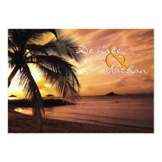 Convite do casamento de praia do por do sol