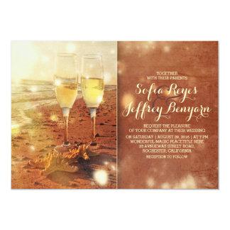 convite do casamento de praia do vintage