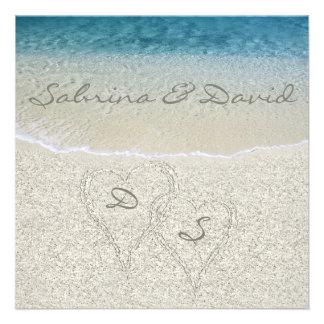 Convite do casamento de Sandy Beach do brilho