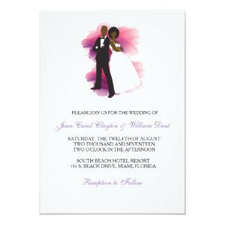 Convite do casamento do afro-americano