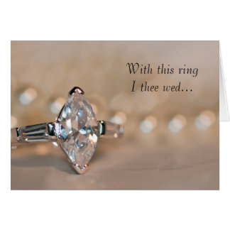 Convite do casamento do anel de diamante do