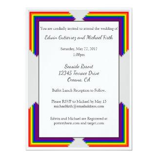 Convite do casamento do arco-íris LGBT