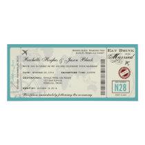 Convite do casamento do bilhete de avião convite 10.16 x 23.49cm