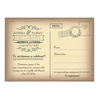 Convite do casamento do cartão com a foto no