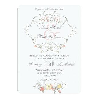 Convite do casamento do conto de fadas