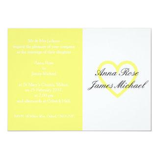Convite do casamento do coração do limão