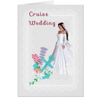 Convite do casamento do cruzeiro