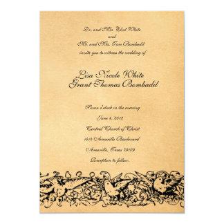 Convite do casamento do design do pergaminho do
