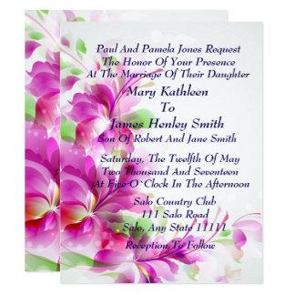 Convite do casamento do design floral do primavera