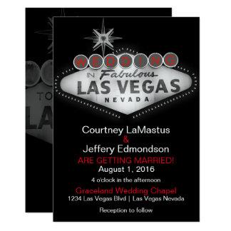 Convite do casamento do destino de Las Vegas
