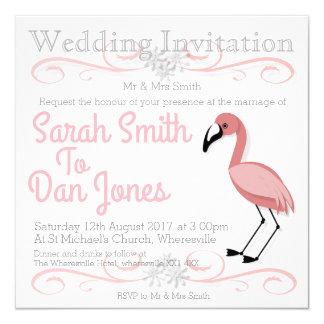 Convite do casamento do flamingo (Customisable)