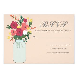 Convite do casamento do frasco de pedreiro - convite 8.89 x 12.7cm